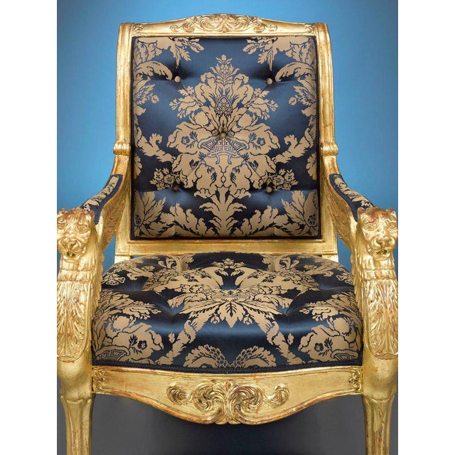 Mid 19th Century French Giltwood Armchairs - A Pair For Sale - Image 5 of 6