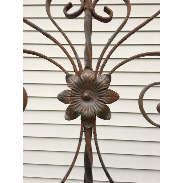 Antique Wrought Iron Decorative Wall Divider - Image 7 of 8