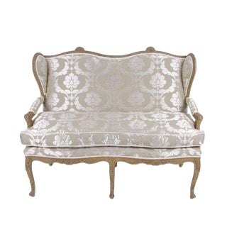 French Upholstered Settee Circa 1860 For Sale