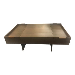 Modern Bloc Cocktail Table For Sale