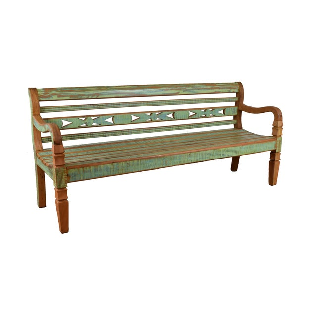This stunning bench is made of reclaimed peroba rosa wood which is a very durable and rot resistant material. Indoor or...