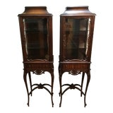 Image of 20th Century French Louis XVI Vitrine Cabinets - a Pair For Sale