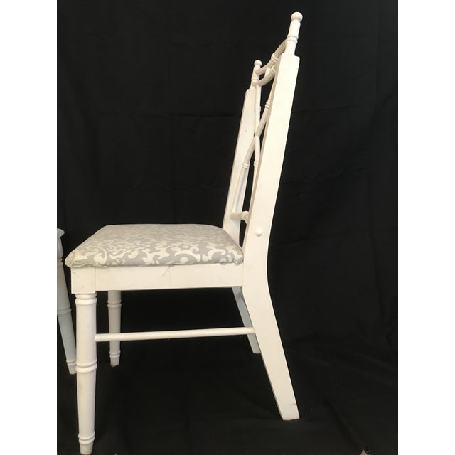 Faux Bamboo Vintage Thomasville Faux Bamboo Chinoiserie Hollywood Regency Chairs - Set of 8 For Sale - Image 7 of 7