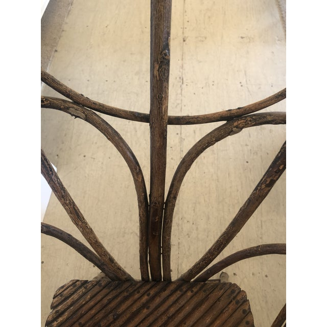 Antique Rustic Adirondack Twig Chair For Sale - Image 11 of 13