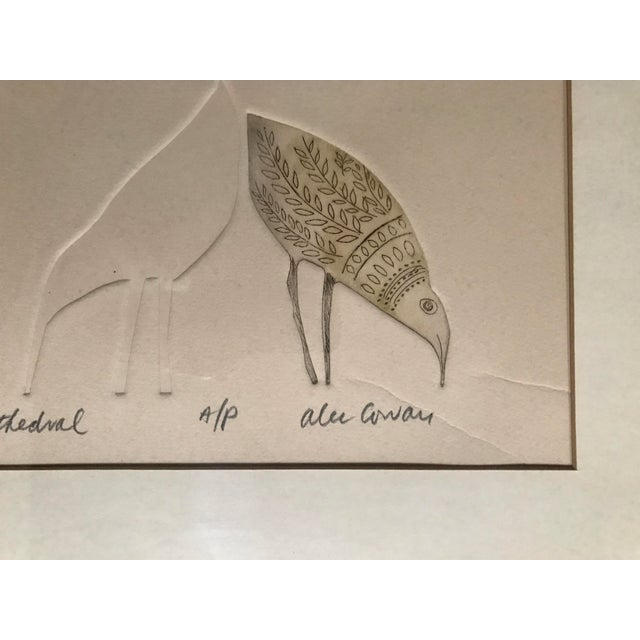"""Abstract Alec Cowan """"Cathedral"""" Block Print For Sale - Image 3 of 11"""