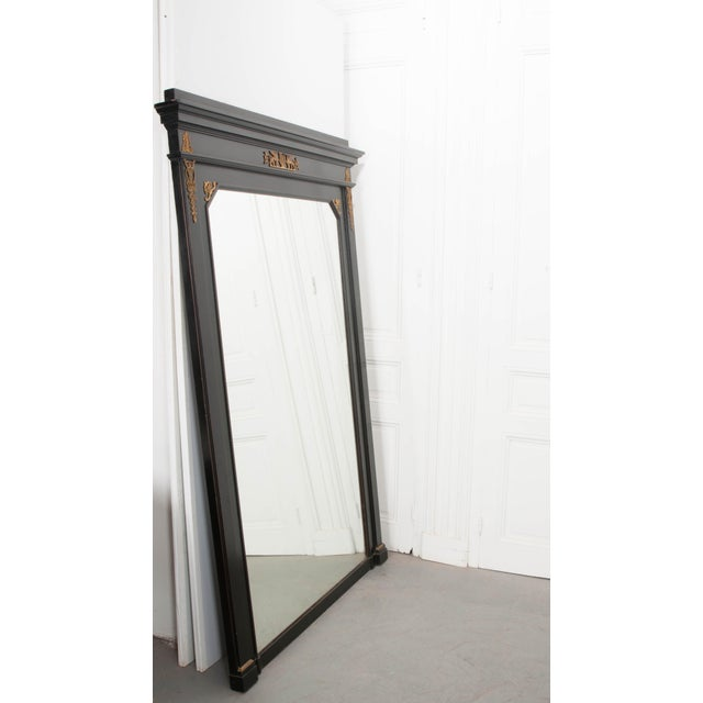 French 19th Century Second Empire Ebonized Console and Mirror For Sale - Image 10 of 13