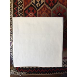 Minimalist White Plaster Cube Side Table Preview