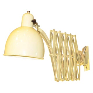 Christian Dell for Kaiser-Idell Scissor Extendable Wall Lamp For Sale