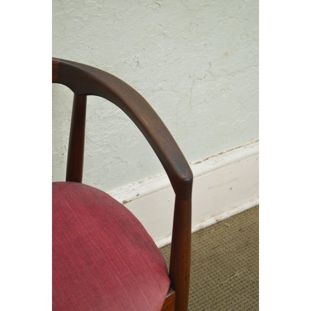 Danish Modern Vintage Curved Back Arm Chair by Raymor For Sale - Image 5 of 10