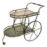 Image of 1970's Vintage Italian Bar Cart For Sale