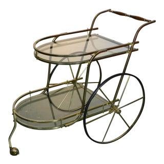 1970's Vintage Italian Bar Cart For Sale