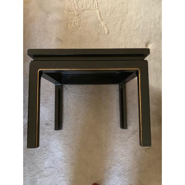 20th Century Asian Hand Painted Square Accent Table For Sale - Image 13 of 13