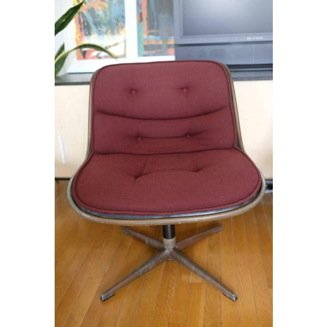 Charles Pollock Knoll Armless 4 Star Base Side Chairs- Set of 3 - Image 2 of 10