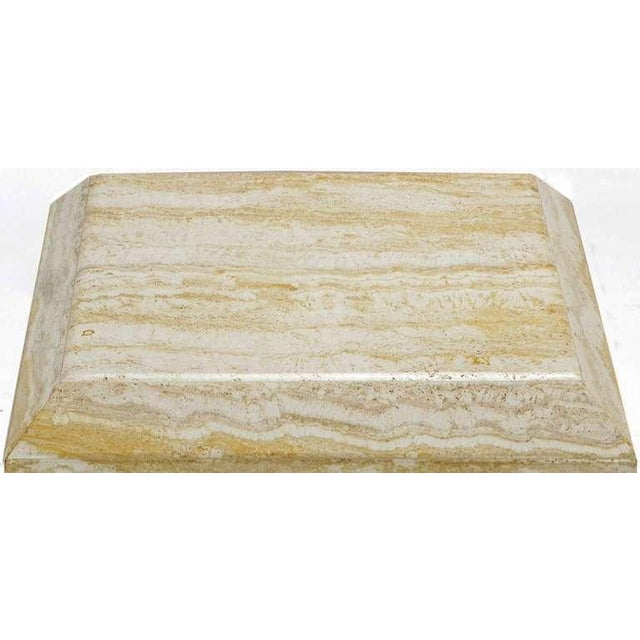 Mid-Century Modern Custom Travertine End Table For Sale - Image 3 of 6