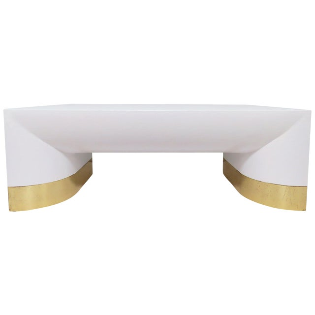 Lacquered Linen Jay Spectre for Century Furniture Coffee Table, Circa 1970s For Sale