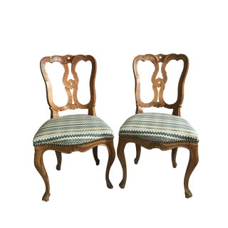 Queen Anne Style Chairs - a Pair For Sale