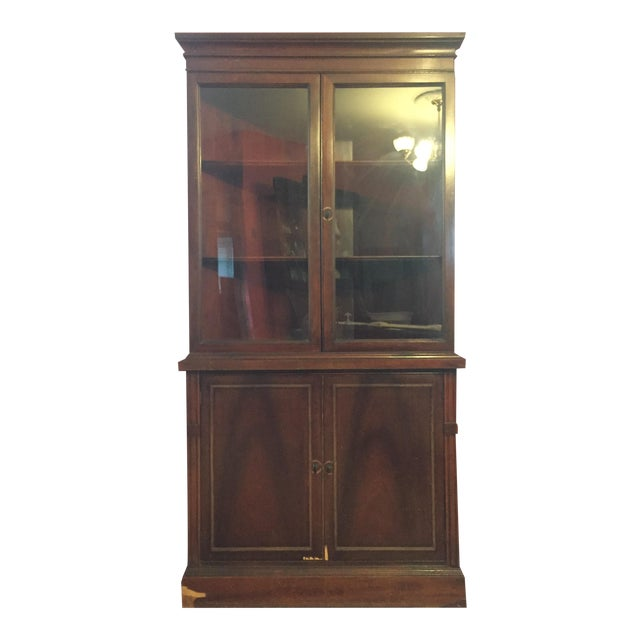 antique corner curio display cabinet chairish. Black Bedroom Furniture Sets. Home Design Ideas