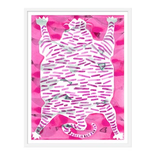 "Medium ""Tiger Rug Raspberry"" Print by Kate Roebuck, 27"" X 35"""