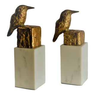 Bungalow 5 Finch Statues - a Pair For Sale