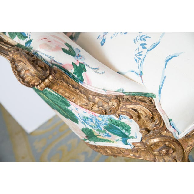 Giltwood French Settee For Sale - Image 7 of 11
