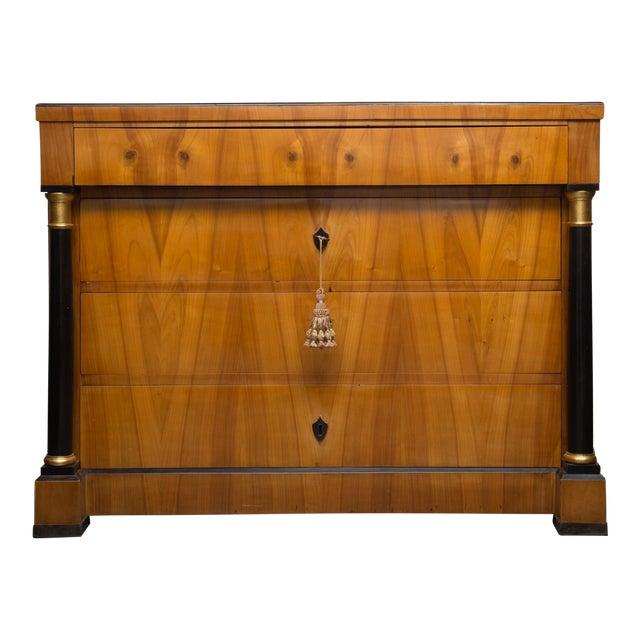 19th Century German Biedermeier Cherrywood Chest of Drawers For Sale