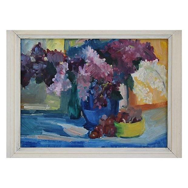 1940s Beautiful Floral Still life Oil Painting - Image 3 of 9