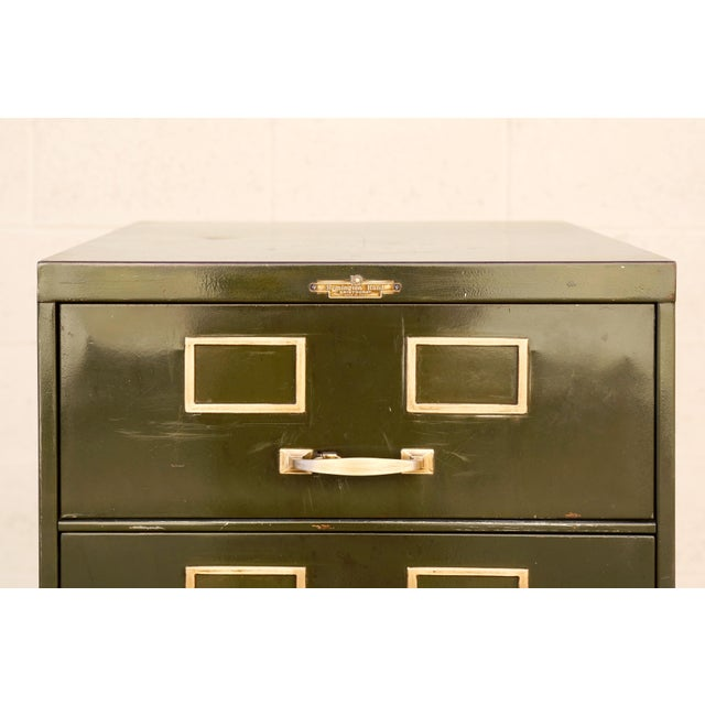Green 1930s Multi Drawer Card Filing Cabinet by Remington Rand For Sale - Image 8 of 13