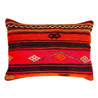 Turkish Red Patterned Kilim Pillow