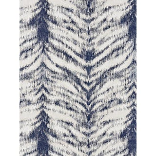 Sample, Scalamandre Safari Weave, Indigo Fabric For Sale