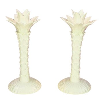 Vintage Fitz & Floyd Palm Tree Candleholders - A Pair - Image 1 of 8