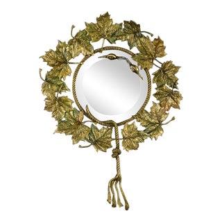 Regency Gilt Leaf Motif Wall Mirror For Sale