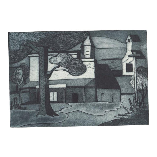 1930s Cityscape Architectural Aquatint Etching For Sale