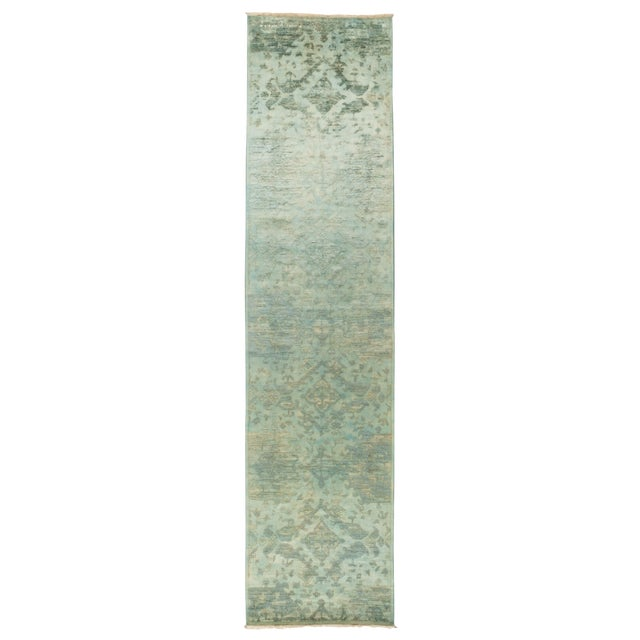 """Over-Dyed Hand Knotted Runner - 3' X 12'7"""" - Image 1 of 3"""