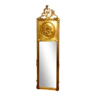 Vintage Carved Wood Frame Gold Gild Beveled Mirrors For Sale