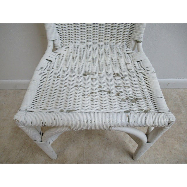 Antique Wicker Outdoor Patio Chair For Sale In Philadelphia - Image 6 of 11