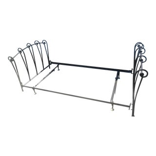 Wrought Iron Sleigh Twin Bed Frame