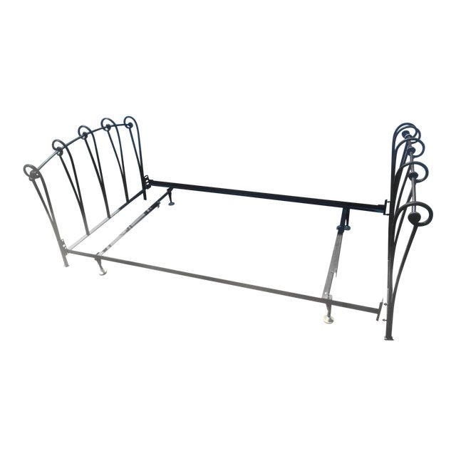 Wrought Iron Sleigh Twin Bed Frame - Image 1 of 10