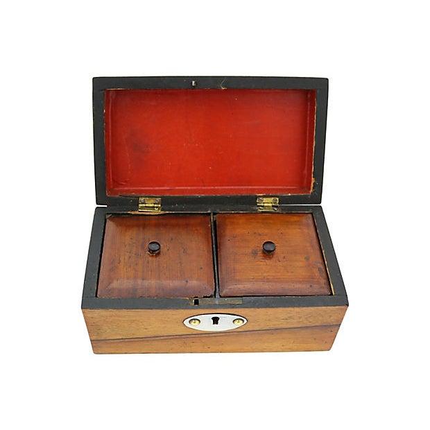 19th Century Antique English Tea Box For Sale - Image 5 of 8