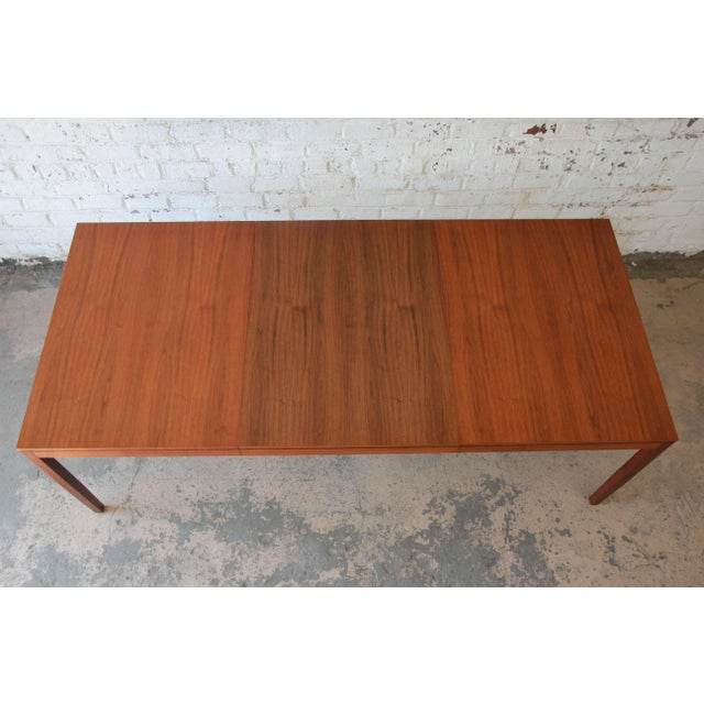 1957 Vintage Florence Knoll for Knoll International Walnut Extension Dining Table - Image 6 of 10