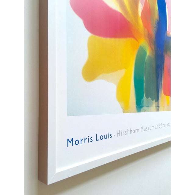 "Morris Louis Rare Vintage 1989 Xtra Lrg Abstract Expressionist Lithograph Print Framed Poster "" Point of Tranquility "" 1959 For Sale In Kansas City - Image 6 of 13"