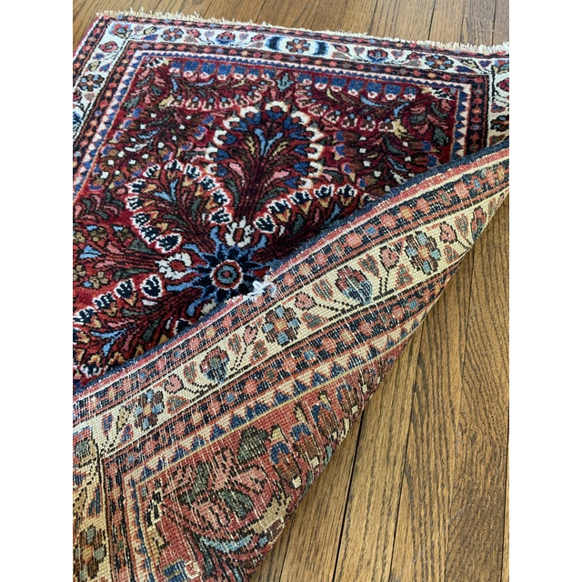 """Early 19th Century Petite Persian Rug- 2' X 2'5"""" For Sale - Image 5 of 6"""