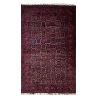 "Rustic Hand Knotted Baluchi Rug - 2' 11"" X 4' 7"" For Sale"