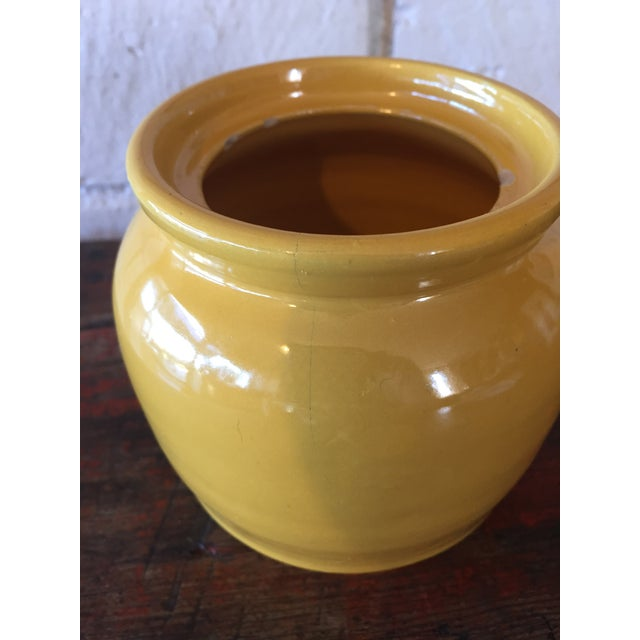 Vintage Yellow Pottery Jar - Image 9 of 10