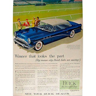 1960s Buick Riviera Matted Advertisement For Sale