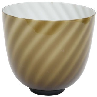 Tommaso Barbi Murano Glass Swirl Vase or Bowl For Sale