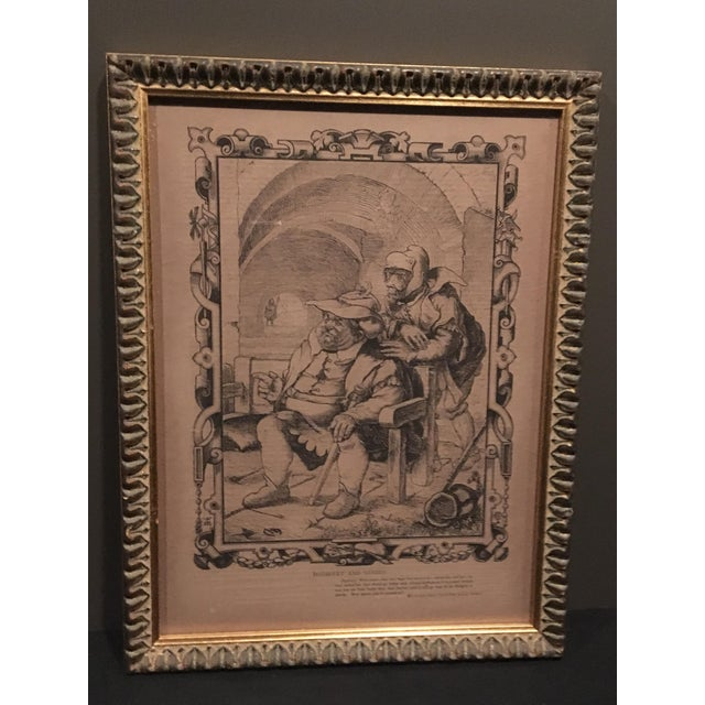 Mid-1800s English Engraving by William Luson Thomas, of Shakespeare's Dogberry and Verges, Framed For Sale - Image 13 of 13