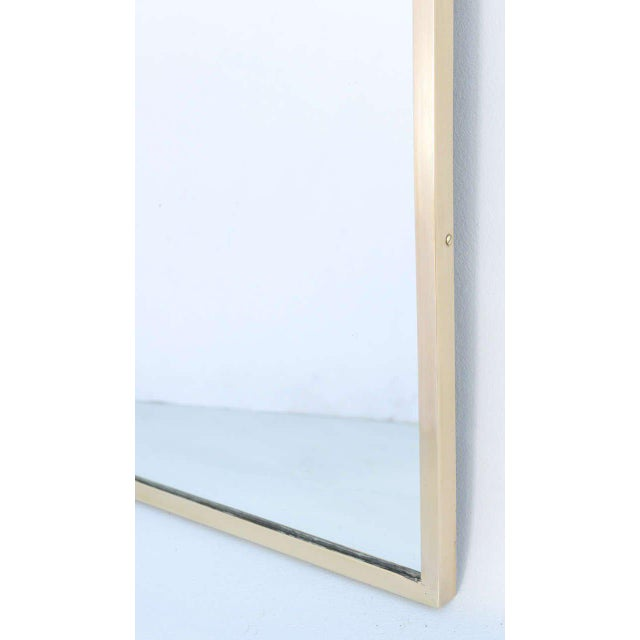 Brass Gothic Arch Mirror in Brass Frame For Sale - Image 7 of 10