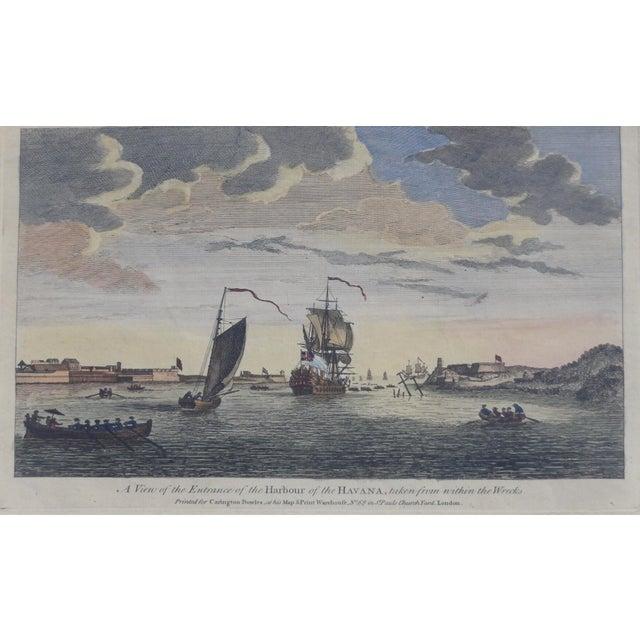 Nautical Havana Harbor in Cuba Print For Sale - Image 3 of 7