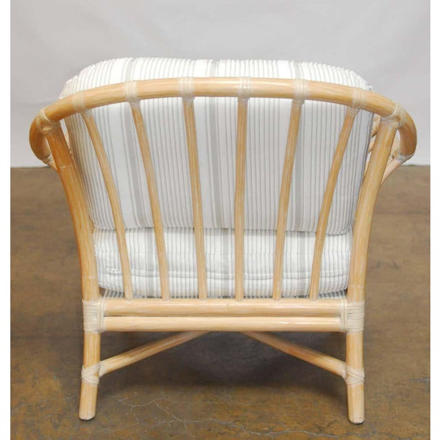 Hollywood Regency Vintage McGuire Bamboo Lounge Chairs - Set of 4 For Sale - Image 3 of 8