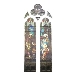 Emil Frei Religious Stained Glass Vitral For Sale